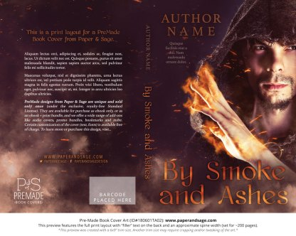 Print layout for Pre-Made Book Cover ID#180601TA02 (By Smoke and Ashes)