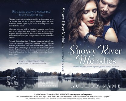 Print layout for Pre-Made Book Cover ID#180604TA02 (Snowy River Melodies)