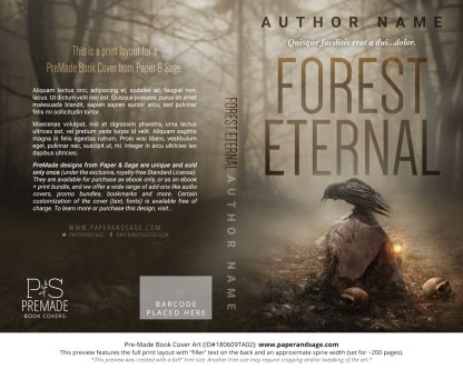 Print layout for Pre-Made Book Cover ID#180609TA02 (Forest Eternal)