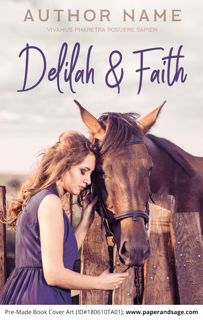 Pre-Made Book Cover ID#180610TA01 (Delilah and Faith)