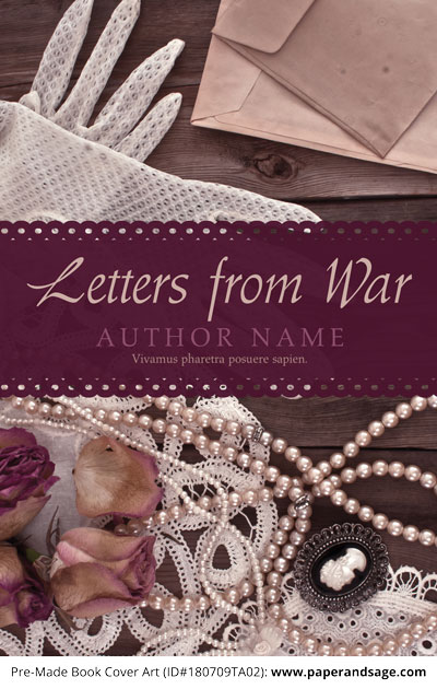Pre-Made Book Cover ID#180709TA02 (Letters from War)