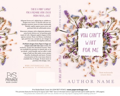 Print layout for Pre-Made Book Cover ID#180714TA01 (You Can't Wait for Me)