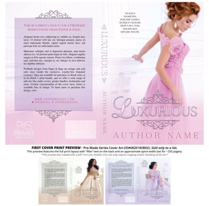 Print layout for PreMade Series Covers ID#082018SB02 (Luxurious Series, Only Sold as a Set)