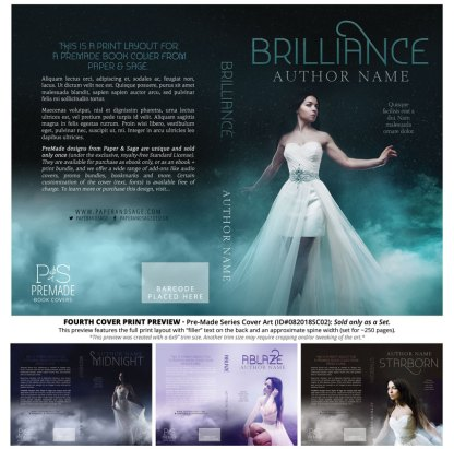 Print Layout for PreMade Series Covers ID#082018SC02 (Starborn Series, Only Sold as a Set)