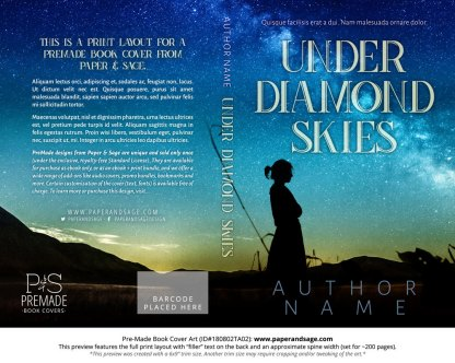 Print layout for Pre-Made Book Cover ID#180802TA02 (Under Diamond Skies)