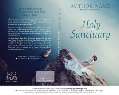 Print layout for Pre-Made Book Cover ID#180813TA01 (Holy Sanctuary)