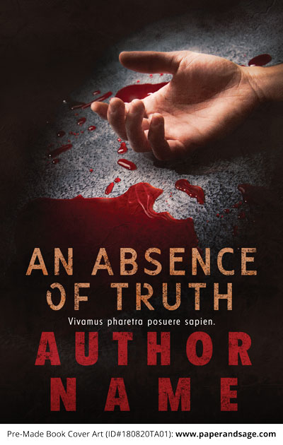 Pre-Made Book Cover ID#180820TA01 (Absence of Truth)