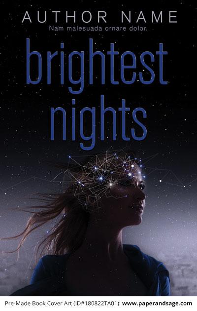 Pre-Made Book Cover ID#180822TA01 (Brightest Nights)