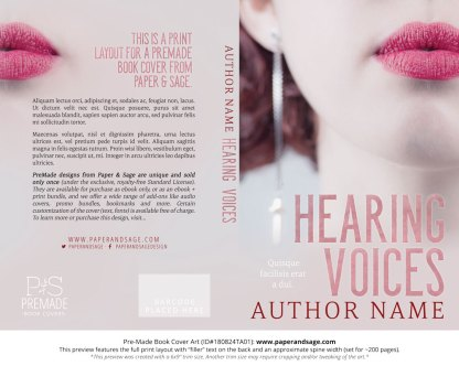 Print layout for Pre-Made Book Cover ID#180824TA01 (Hearing Voices)