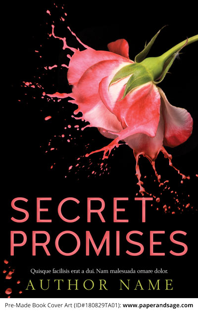 Pre-Made Book Cover ID#180829TA01 (Secret Promises)