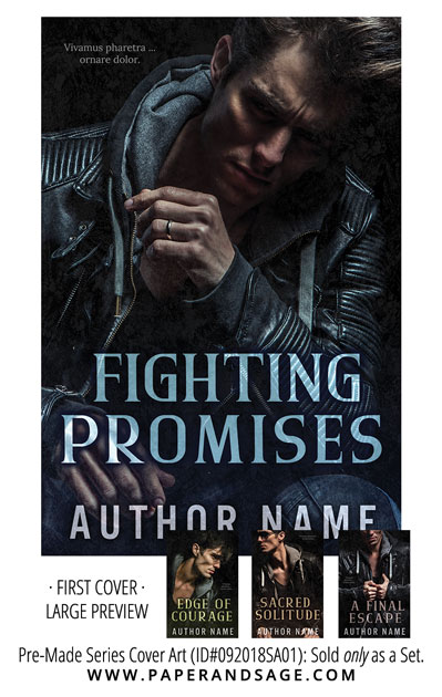 PreMade Series Covers ID#092018SA01 (Fighting Promises Series, Only Sold as a Set)
