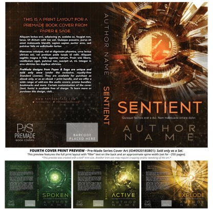 Print layout for PreMade Series Covers ID#092018SB01 (Sentient Series, Only Sold as a Set)