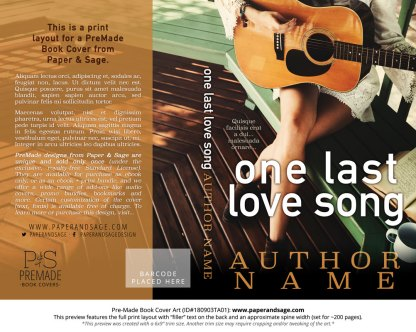 Print layout for Pre-Made Book Cover ID#180903TA01 (One Last Love Song)