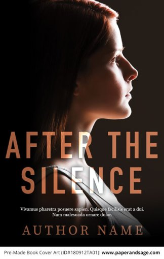 Pre-Made Book Cover ID#180912TA01 (After the Silence)