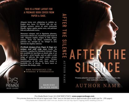 Print layout for Pre-Made Book Cover ID#180912TA01 (After the Silence)