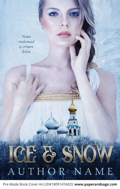 Pre-Made Book Cover ID#180914TA02 (Ice & Snow)