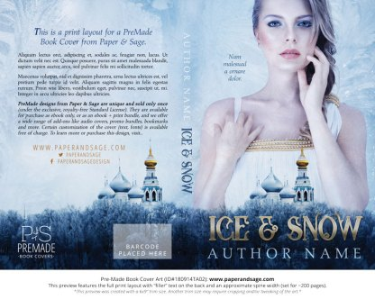 Print layout for Pre-Made Book Cover ID#180914TA02 (Ice & Snow)