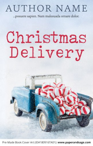 Pre-Made Book Cover ID#180916TA01 (Christmas Delivery)