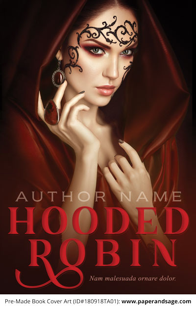 Pre-Made Book Cover ID#180918TA01 (Hooded Robin)