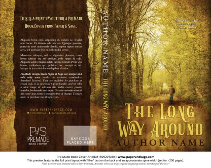 Print Layout for Pre-Made Book Cover ID#180920TA01 (The Long Way Around)