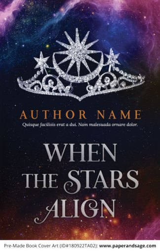 Pre-Made Book Cover ID#180922TA02 (When the Stars Align)