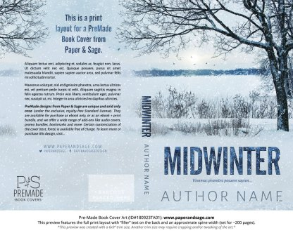 Print Layout for Pre-Made Book Cover ID#180923TA01 (Midwinter)