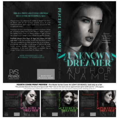 Print layout for PreMade Series Covers ID#112018SA02 (The Dreamers Series, Only Sold as a Set)
