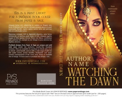 Print layout for Pre-Made Book Cover ID#181009TA02 (Watching the Dawn)