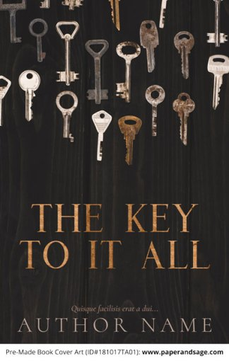 Pre-Made Book Cover ID#181017TA01 (The Key to it All)