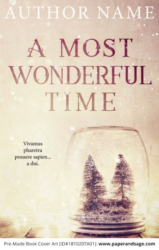 Pre-Made Book Cover ID#181020TA01 (A Most Wonderful Time)