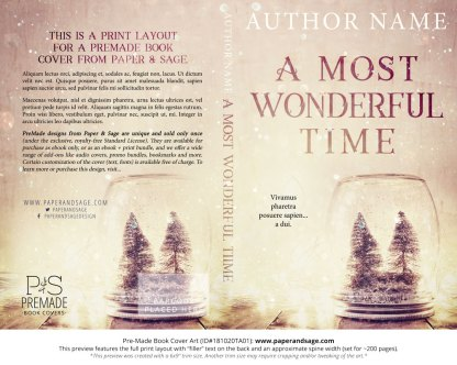 Print layout for Pre-Made Book Cover ID#181020TA01 (A Most Wonderful Time)