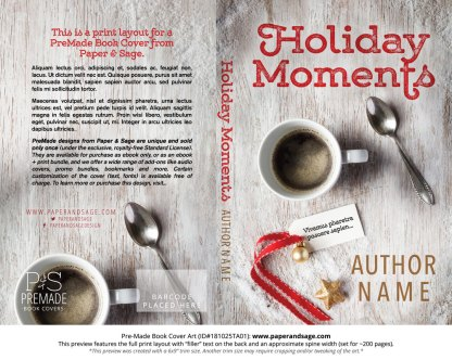 Print layout for Pre-Made Book Cover ID#181025TA01 (Holiday Moments)