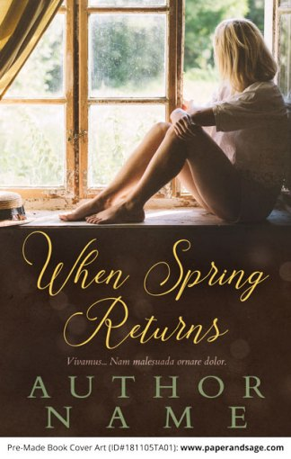 Pre-Made Book Cover ID#181105TA01 (When Spring Returns)