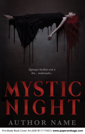 Pre-Made Book Cover ID#181111TA01 (Mystic Night)