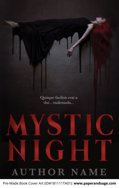 Pre-Made Book Cover ID#181111TA01 (Mystic Night)