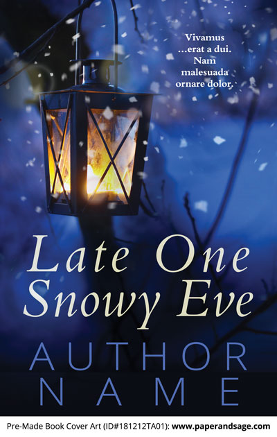 Pre-Made Book Cover ID#181212TA01 (Late One Snowy Eve)