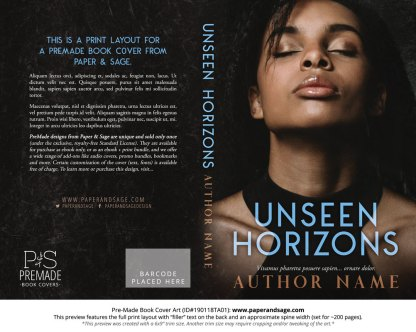 Print layout for Pre-Made Book Cover ID#190118TA01 (Unseen Horizons)
