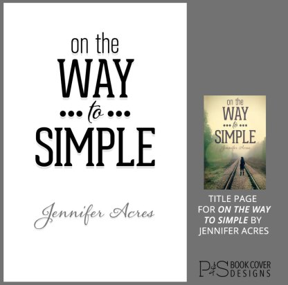 Add-On Example: Title Page for On the Way to Simple