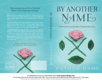 Print layout for Pre-Made Book Cover ID#190201TA01 (By Another Name)