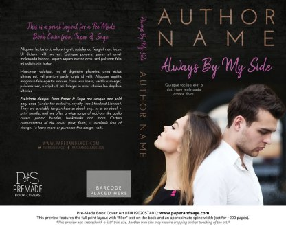 Print layout for Pre-Made Book Cover ID#190205TA01 (Always By My Side)