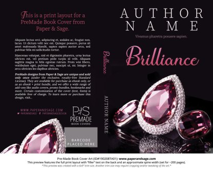 Print layout for Pre-Made Book Cover ID#190208TA01 (Brilliance)