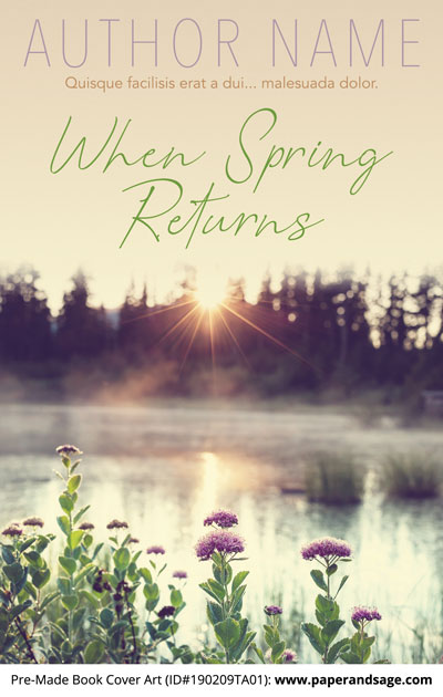 Pre-Made Book Cover ID#190209TA01 (When Spring Returns)