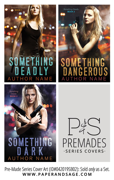 PreMade Series Covers ID#042019SB02 (Something Deadly, Only Sold as a Set)