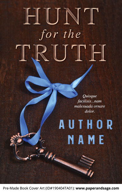 Pre-Made Book Cover ID#190404TA01 (Hunt for the Truth)