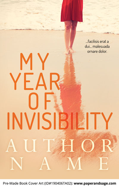 Pre-Made Book Cover ID#190406TA02 (My Year of Invisibility)
