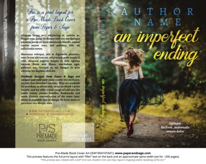 Print layout for Pre-Made Book Cover ID#190410TA01 (An Imperfect Ending)