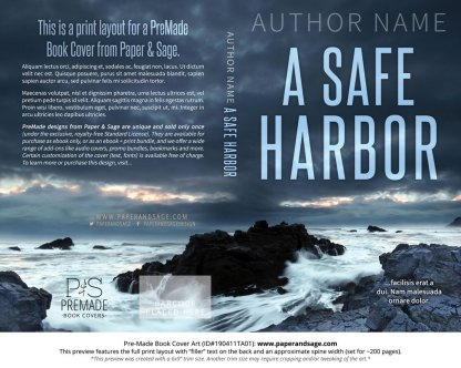 Print layout for Pre-Made Book Cover ID#190411TA01 (A Safe Harbor)