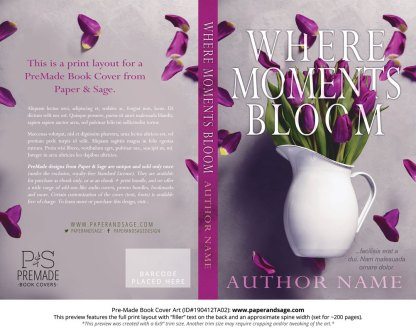 Print layout for Pre-Made Book Cover ID#190412TA02 (Where Moments Bloom)