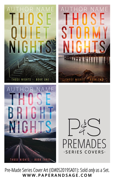 PreMade Series Covers ID#052019SA01 (Those Nights, Only Sold as a Set)