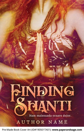 Pre-Made Book Cover ID#190501TA01 (Finding Shanti)